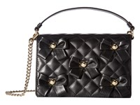 Boutique Moschino Quilted Bow Bag Black Shoulder Handbags
