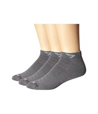 Drymax Sport Running Lite Mesh Mini Crew 3 Pack Anthracite Low Cut Socks Shoes Pewter