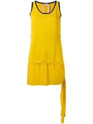 N 21 No21 Double Layered Vest Top Yellow Orange