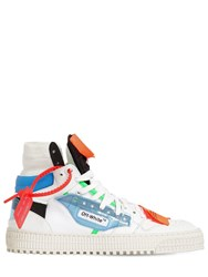 Off White 20Mm Court Leather And Plexi Sneakers White Multi