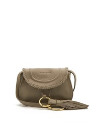 See By Chloe Polly Mini Leather Cross Body Bag Light Grey