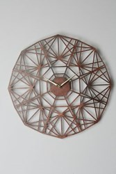 Anthropologie Gatehouse Wall Clock Geo Brown