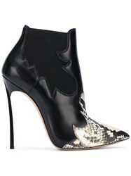 Casadei Pointed Ankle Boots Black