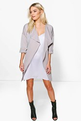 Lexi Waterfall Rucked Back Belted Duster
