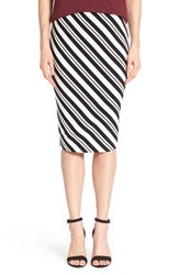 Women's Vince Camuto 'Arrow Stripe' Midi Tube Skirt