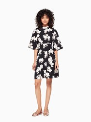 Kate Spade Posy Floral Swing Dress Black