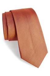 Men's Calibrate Woven Silk Tie Burnt Orange