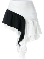 Y 3 Ruffled Contrast Panel Shorts White