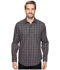 Robert Graham Lando Long Sleeve Woven Shirt Charcoal Men's Long Sleeve Button Up Gray