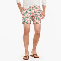 J.Crew 6.5 Tab Swim Short In Evening Floral