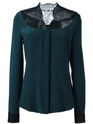 Ungaro Emanuel Lace Panel Blouse Green
