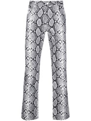 Opening Ceremony Snakeskin Effect Trousers 60