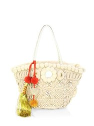 Figue Stevie Tuk Tuk Basket Tote Ivory