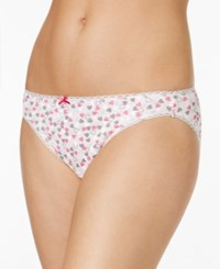Charter Club Pretty Cotton Bikini Only At Macy's Pink Hearts On Pink Ground