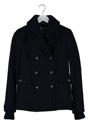 Noa Noa Classic Coat Dark Navy Dark Blue