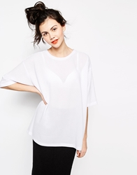 Monki Boyfriend T Shirt White