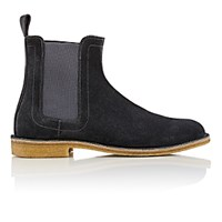 Bottega Veneta Men's Suede Chelsea Boots Dark Grey