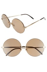 Wildfox Couture Starlight 62Mm Oversize Round Sunglasses Antique Gold Brown Solid Antique Gold Brown Solid