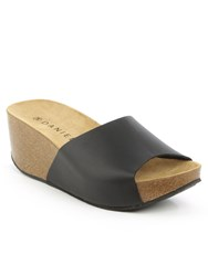 Daniel Tavernola Plain Wedge Mules Black