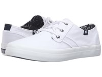 Sperry Crest Rider Canvas White Women's Lace Up Casual Shoes