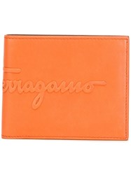 Salvatore Ferragamo Kentucky Embossed Logo Wallet Yellow Orange