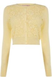 Oasis Lace Front Cardi Yellow