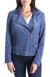 Kut From The Kloth Faux Suede Eveline Jacket Slate Blue