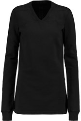 Rick Owens Cotton Sweatshirt Black