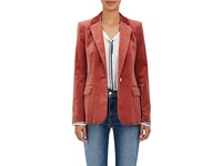 Frame Women's Classic Cotton Blend Velvet Blazer No Color