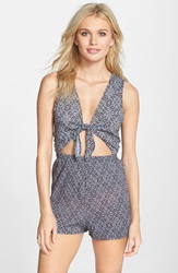 Bcbgeneration 'Cut It Out' Cover Up Romper Pink Multi