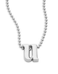 Alex Woo Icon Sterling Silver Initial Necklace U