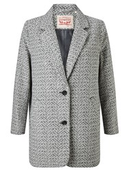Levi's Wool Blend Cocoon Coat Bleached Wool Denim