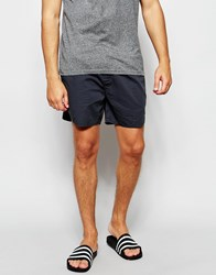 Asos Chino Shorts With Elasticated Waist In Petrol