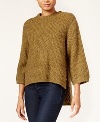 Rachel Roy High Low Sweater Gold