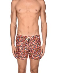 Macchia J Swimwear Swimming Trunks Men Orange