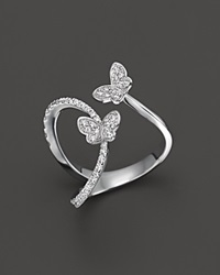 Bloomingdale's Diamond Butterfly Ring In 14K White Gold .40 Ct. T.W.