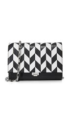 Michael Kors Yasmeen Small Clutch Black Optic White