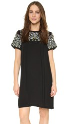 Little White Lies Oaxacan Dress Black With Embroidery