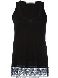 Givenchy Lace Hem Tank Top Black
