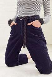 Urban Outfitters Braided Rope Belt Black