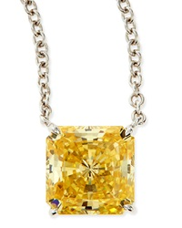 10Mm Radiant Canary Cubic Zirconia Necklace Fantasia By Deserio
