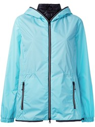 Duvetica Zipped Pockets Hooded Jacket Women Feather Down Polyamide 42 Blue