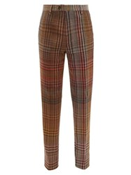Missoni Checked Wool Blend Trousers Multi
