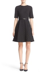 Ted Baker Women's London 'Cealine' Belted Texture Fit And Flare Dress