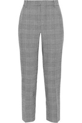 Rebecca Minkoff Louisa Cropped Prince Of Wales Checked Cady Straight Leg Pants Black
