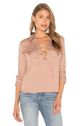 L'academie The Safari Blouse Tan