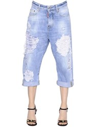 Dsquared Kawaii Washed And Destroyed Denim Jeans