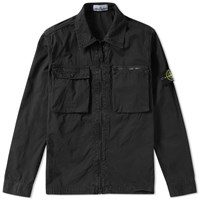 Stone Island Garment Dyed Shirt Jacket Black