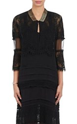 Gary Graham Women's Cotton Lace Bolero Jacket Black