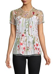 Walter Baker Fiona Embroidered Blouse White Multi